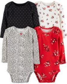 Osh Kosh Baby Girl4-Pack Original Bodysuits