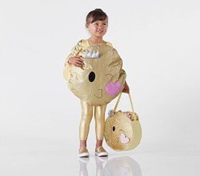 Pottery Barn Toddler Glitter Emoji Costume