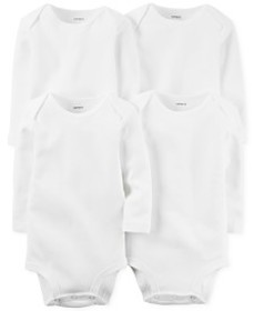 Carter's Baby Boys' or Baby Girls' 4-Pack Solid Bo