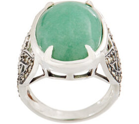 Solvar Sterling Silver Green Aventurine with Marca