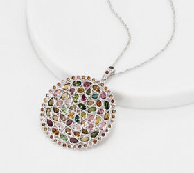 Sterling Silver Multi Color Tourmaline 8.90 cttw P
