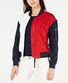 Tommy Hilfiger Colorblocked Bomber Jacket, Created