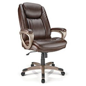 Realspace Tresswell Bonded Leather High Back