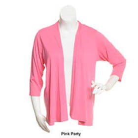 Petite Notations Solid Cardigan with 3/4 Length Sl