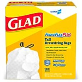 GLAD ForceFlex Drawstring, Tall Kitchen Trash Bags