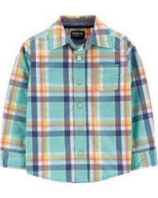 Osh Kosh Toddler BoyButton-Front Plaid Shirt