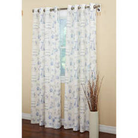 By The Sea Text Print Curtain Collection