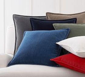 Pottery Barn Washed Velvet Pillow Covers