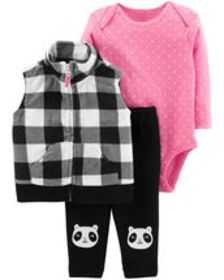 Osh Kosh Baby Girl3-Piece Little Vest Set