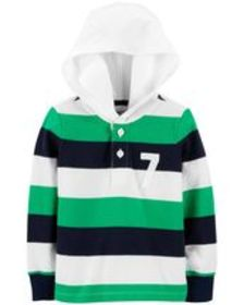 Osh Kosh Toddler BoyHooded Rugby Top