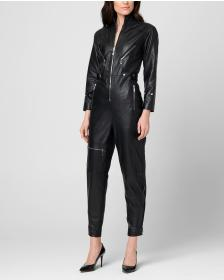 Juicy Couture Leather Utility Jumpsuit
