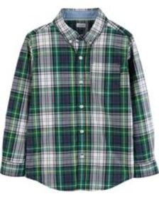 Osh Kosh Kid BoyPlaid Poplin Button-Front Shirt
