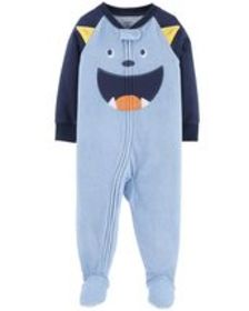 Osh Kosh Kid Boy1-Piece Monster Fleece PJs