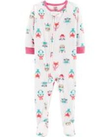 Osh Kosh Baby Girl1-Piece Winter Animals Fleece PJ