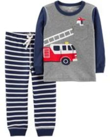 Osh Kosh Toddler Boy2-Piece Firetruck Tee & Stripe