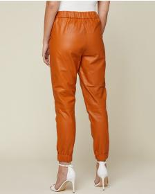 Juicy Couture Cognac Leather Track Pant