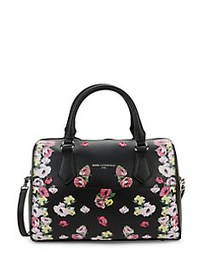Karl Lagerfeld Paris Willow Floral Leather Satchel