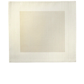 "Bordered Square Placemat 14"" x 14"" , White"