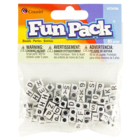 Cousin Square White Pony Beads, 85 pc