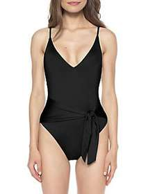 Isabella Rose Double Take Sash Tie One-Piece Swims