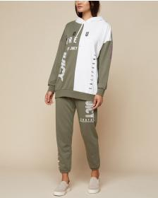 Juicy Couture JXJC Olive Multi-Logo Pant