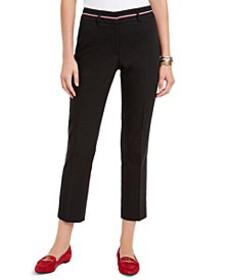Tommy Hilfiger Ribbon-Trim Ankle Pants, Created fo
