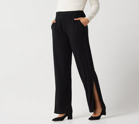 Dennis Basso Regular Soft Touch Pull-On Knit Pants