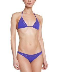 Melissa Odabash Barbados Purple Studded Brief~1414