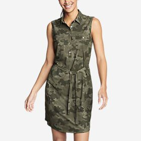 Women's Departure Sleeveless Shirt Dress - Pri