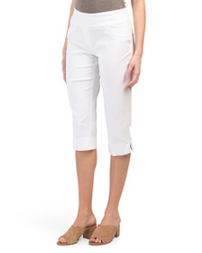 RUBY RD Petite Pull On Stretch Capri Pants
