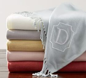 Pottery Barn Personalized Throw