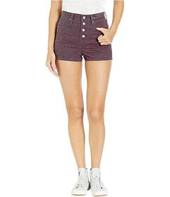 Juicy Couture Laurel Ditsy Printed Denim Shorts