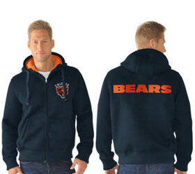 NFL Team Color Poly Knit with Sherpa Lining Zip Up