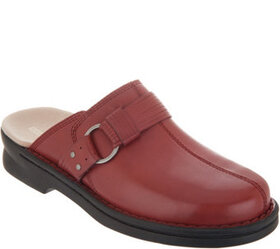 """""""As Is"""" Clarks Leather Slip-On Clogs- Patty Lorene"""