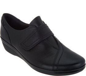 """As Is"" Clarks Leather Monk Strap Shoes- Everlay D"