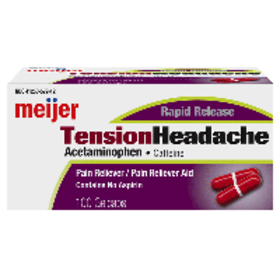 Meijer Rapid Release Tension Headache, 100 Gelcaps