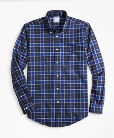 Brooks Brothers Non-Iron Regent Fit Brushed Plaid