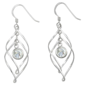 Madisynn Sterling Silver 2 in 1 Twisted Earring