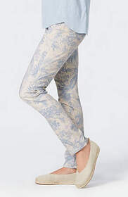 Authentic Fit Printed Slim-Leg Jeans