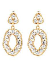 Kenneth Jay Lane Crystal-Embellished Drop Earrings