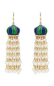 Kenneth Jay Lane Beaded Tasseled Drop Earrings