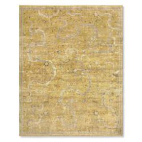 Shah Hand Knotted Rug, Yellow