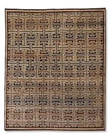 Bold Lattice Hand-Knotted Rug