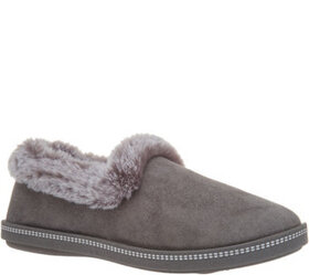 """As Is"" Skechers Faux Fur Slippers- Cozy Campfire"