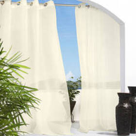 Escape Grommet Curtain Panel - Ivory