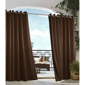 Gazebo Indoor/Outdoor Curtain Panel - Chocolate