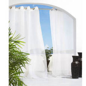 Escape Grommet Curtain Panel - White