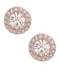Givenchy Rose Goldtone and Swarovski Crystal Stud