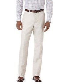 Perry Ellis Classic Fit Linen-Blend Herringbone Su