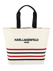 Karl Lagerfeld Paris Kristen Striped Tote Bag STRI